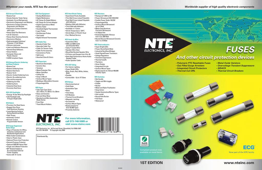 NTE Electronics 74-5FG250MA-B Fuse-Mini 5 X 20MM Glass 250MA 125V//250V 5 PKG