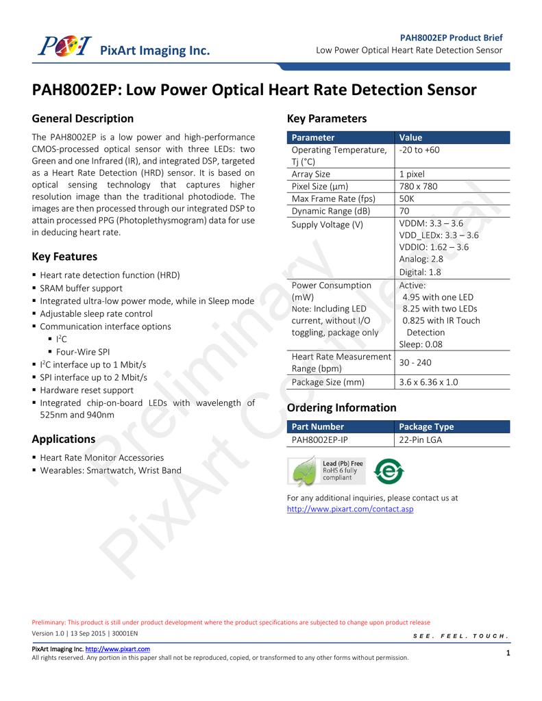 PAC7640 Datasheet - Pixart Imaging Inc