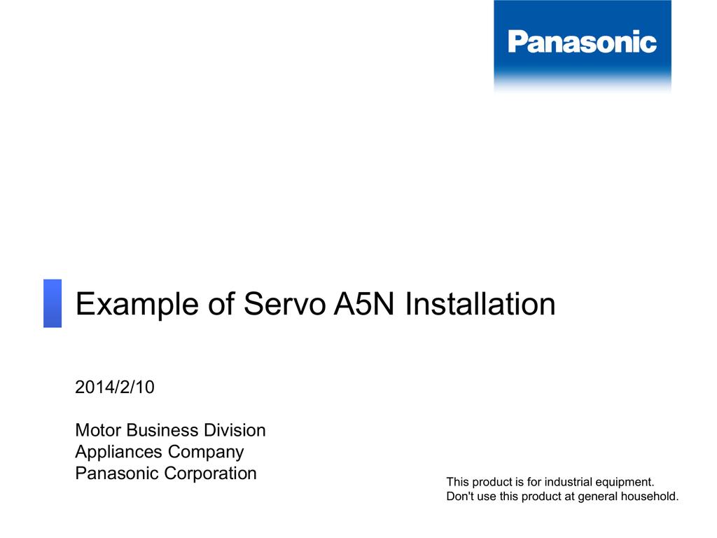 Example Of Servo A5n Installation Panasonic Motor Wiring Diagram 001308119 1 904a8a8e53dcaf8af26b62c19b6741f9