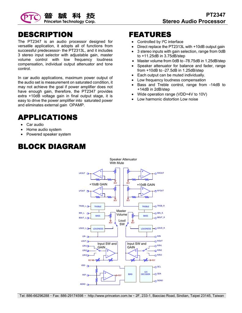 Description Applications Features Block Diagram Op Amp Attenuator Circuit