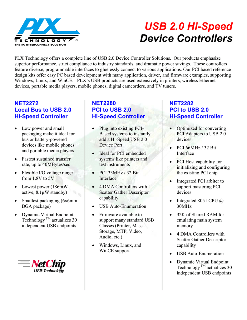 USB 2 0 Hi-Speed Device Controllers