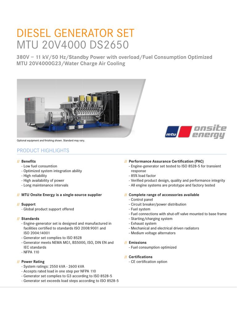 Diesel Generator Set Mtu 20v4000 Ds2650 20v W Engine Diagram 001318331 1 Ad052e03e4224b8c2afee444dcc645e1