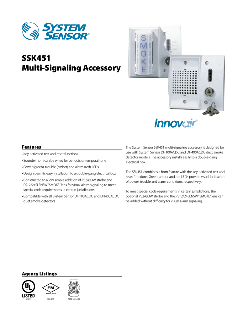 SSK451 Multi-Signaling Accessory on