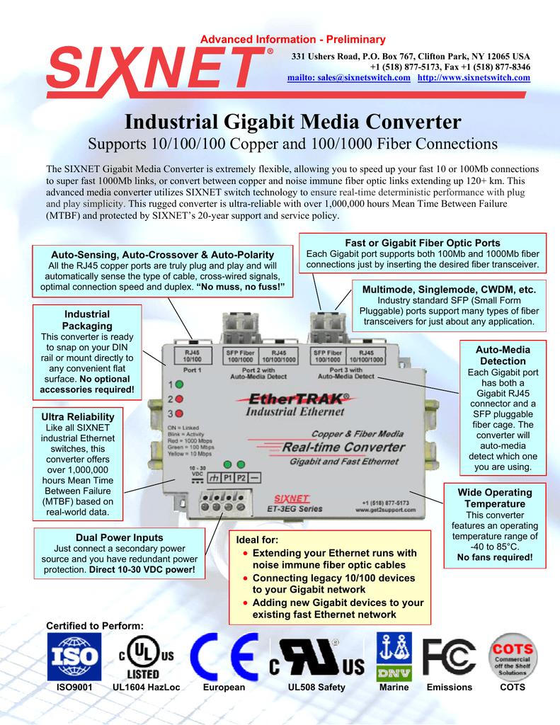 Industrial Gigabit Media Converter