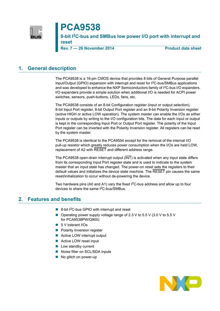 PCA9538 - NXP Semiconductors