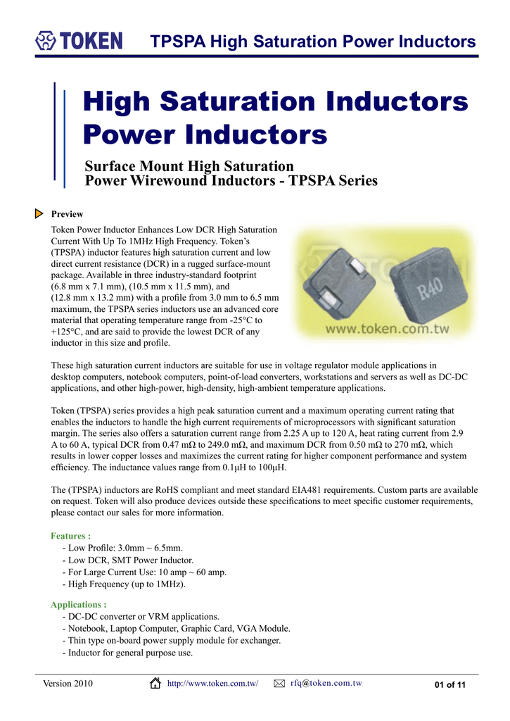 SMD Power Inductors (TPSPA)
