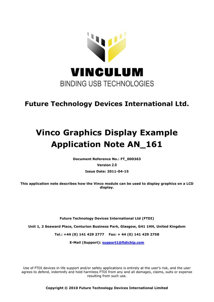 AN_161 Vinco Graphics Display Example