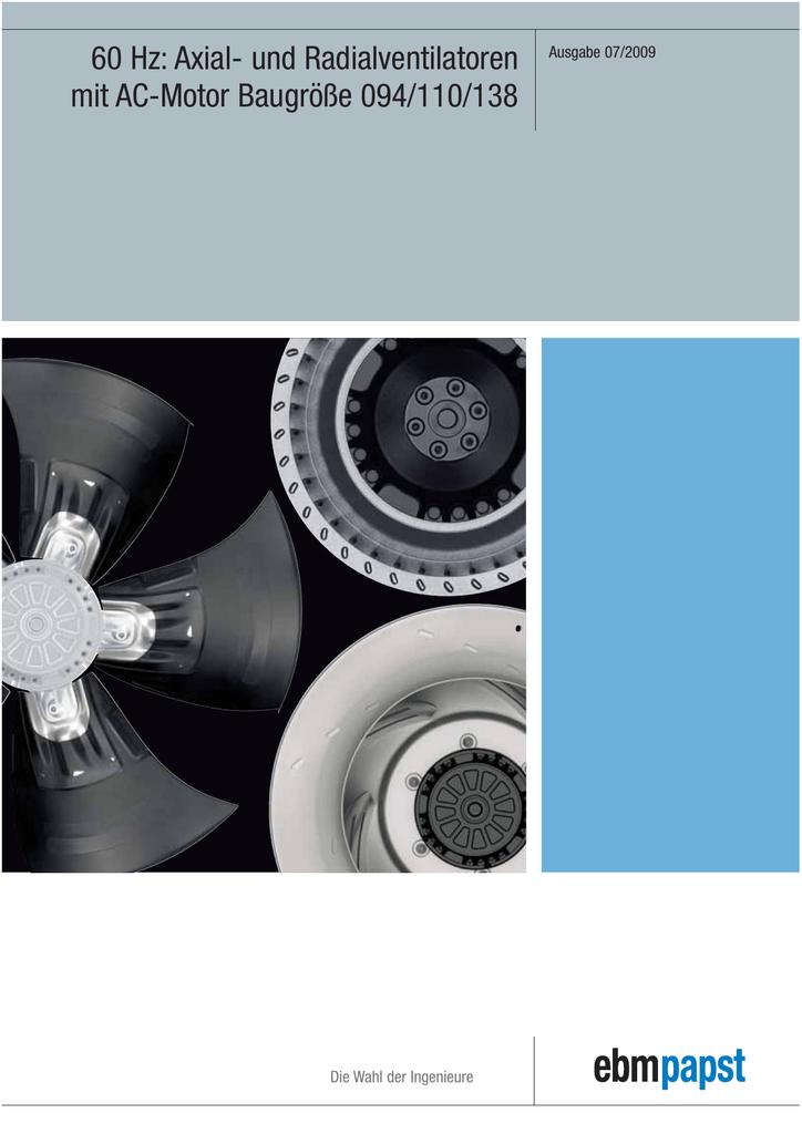 Axial- und Radialventilatoren mit AC-Motor Baugröße - ebm