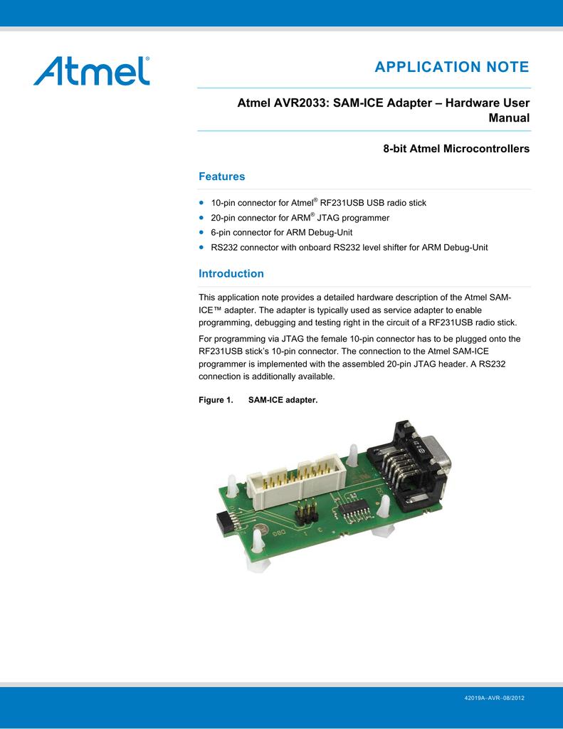 Atmel AVR2033: SAM-ICE Adapter - Hardware