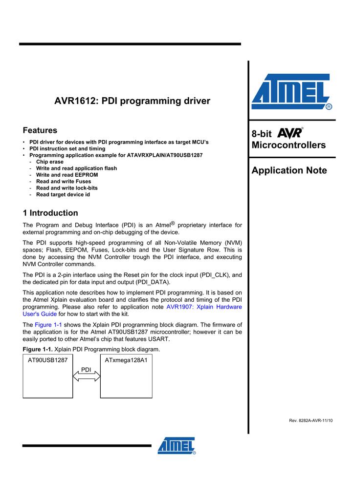 Avr1612 Pdi Programming Driver