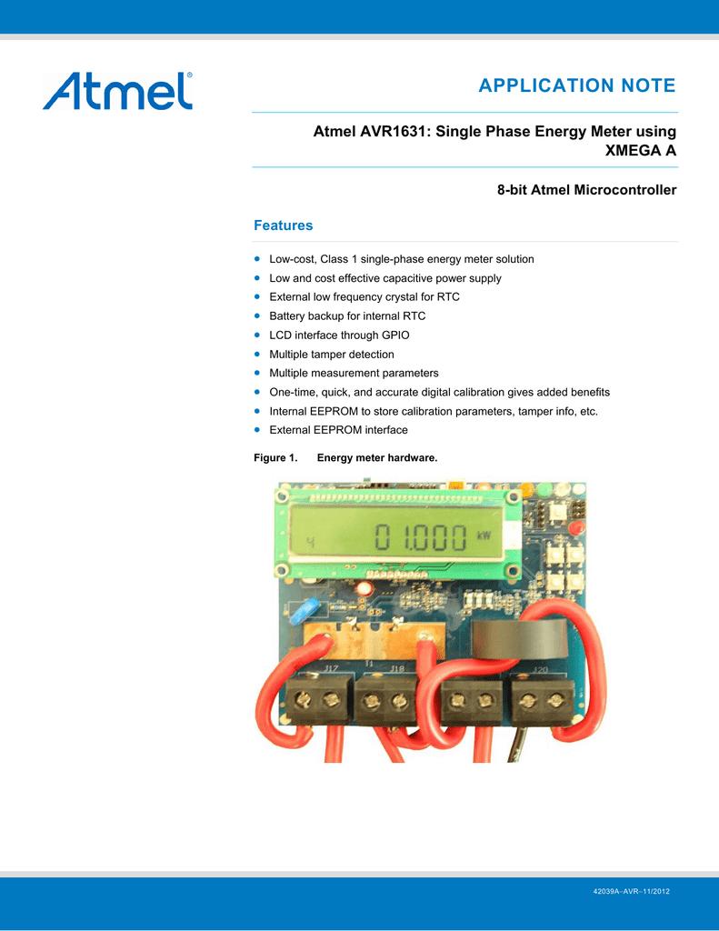 Single Phase Energy Meter using XMEGA A