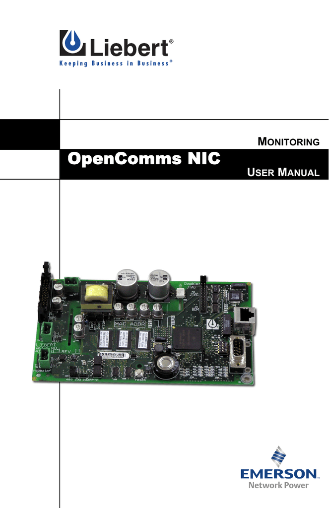 OpenComms NIC - Emerson Network Power