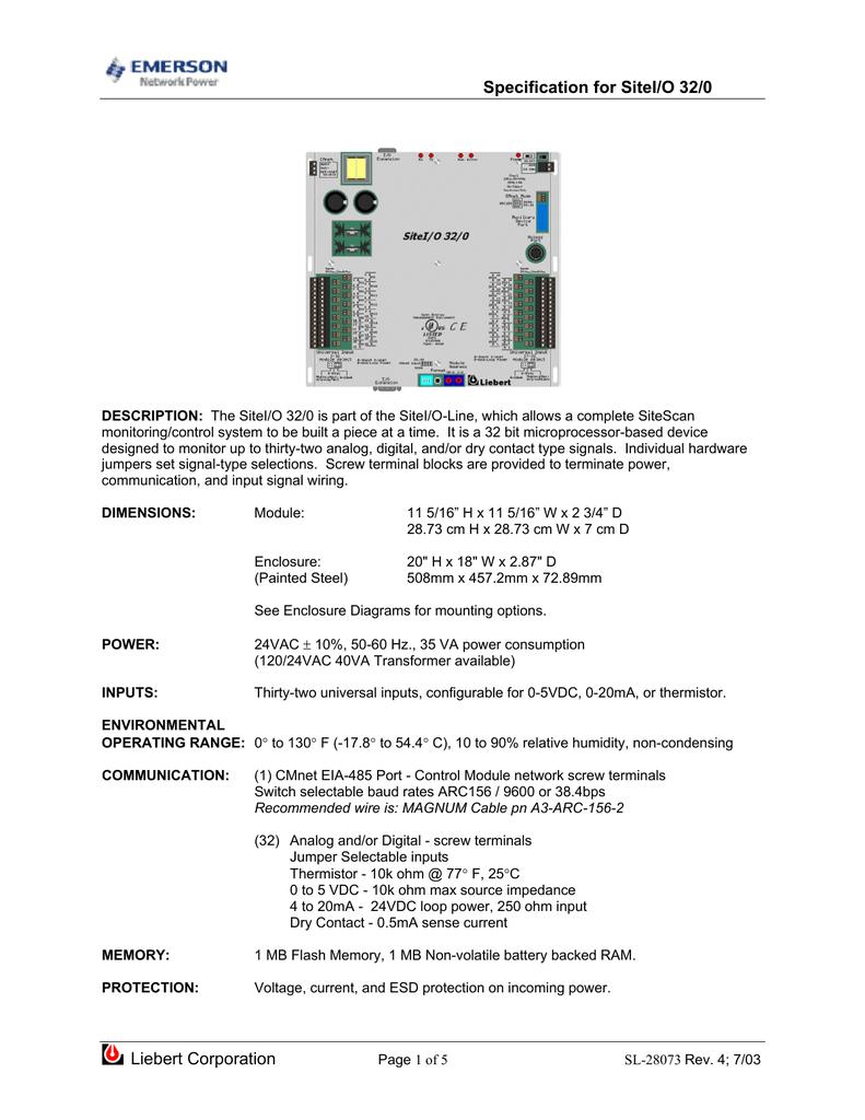 SL-28073 - Emerson Network Power