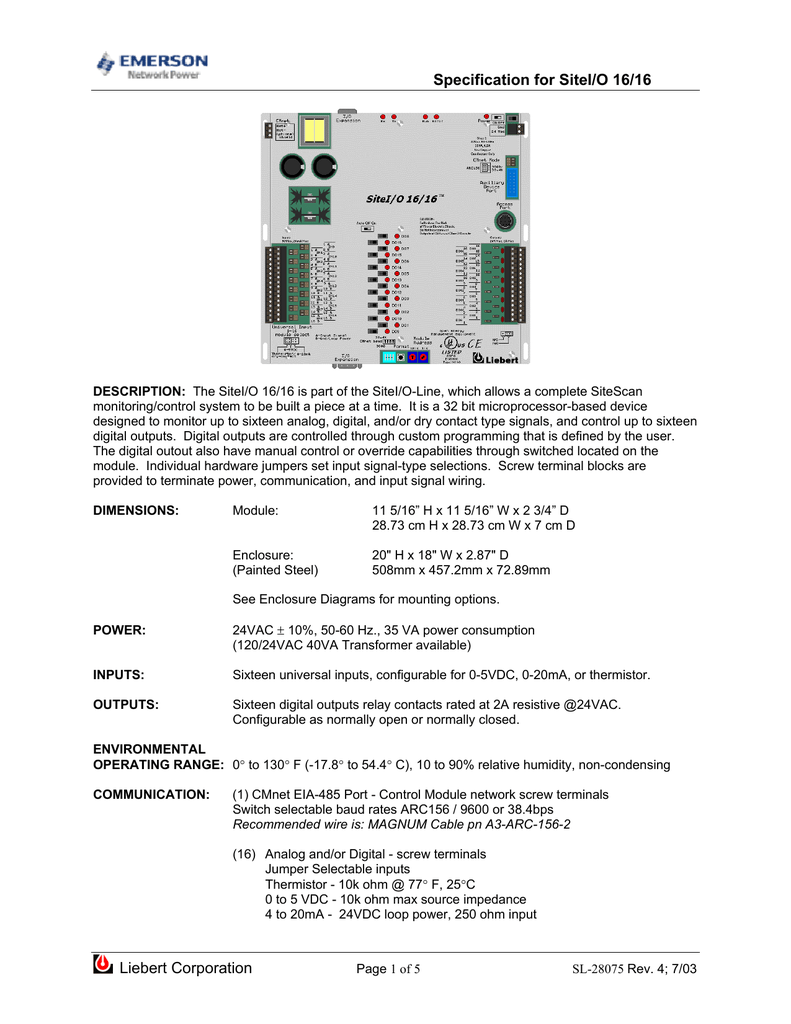 SL-28075 - Emerson Network Power