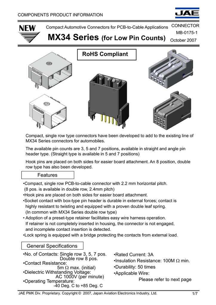 MX34 Series (for Low Pin Counts)