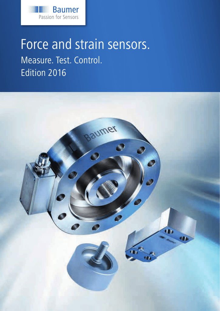 Product catalogue - Force and Strain Sensors