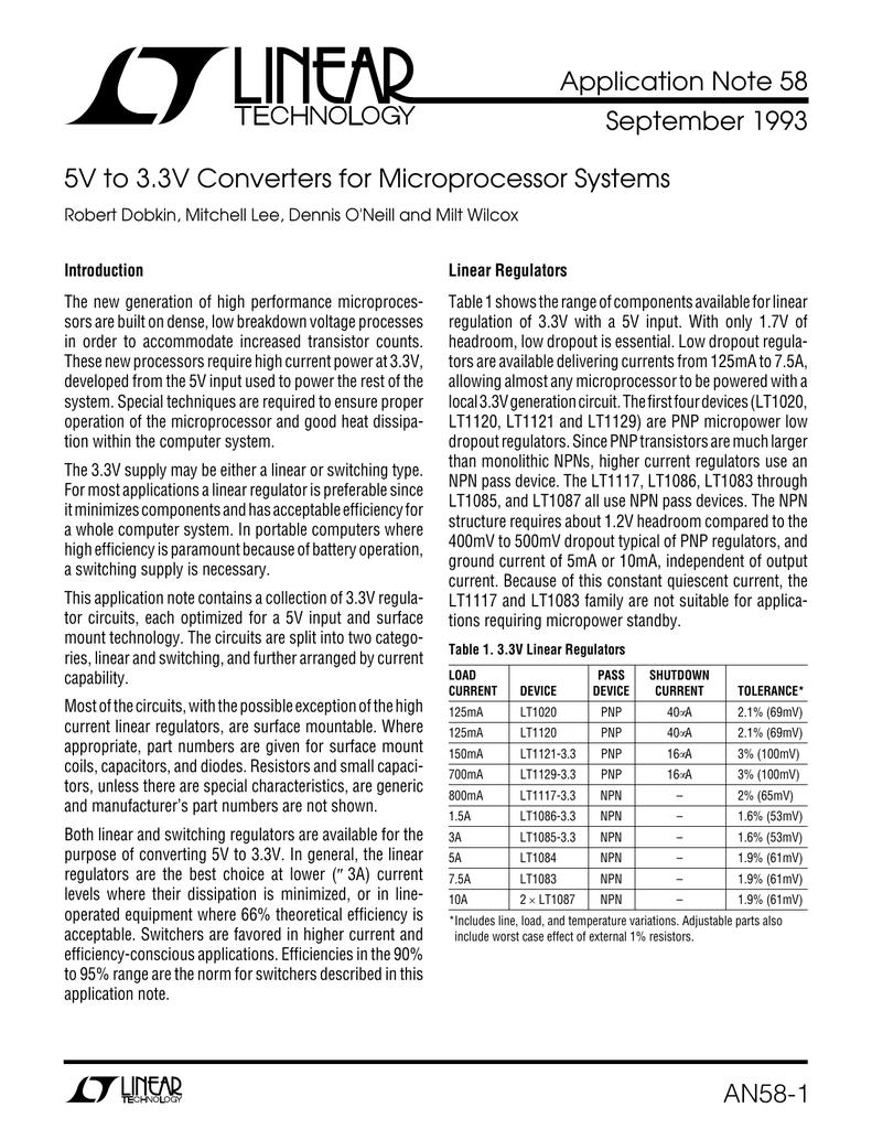 5v To 33v Converters For Microprocessor Systems 12v 3v Convertor