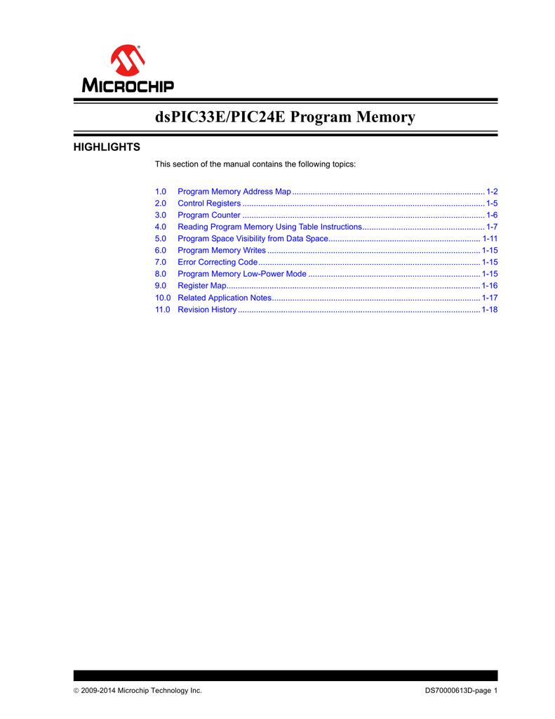 dsPIC33E/PIC24E FRM, Program Memory