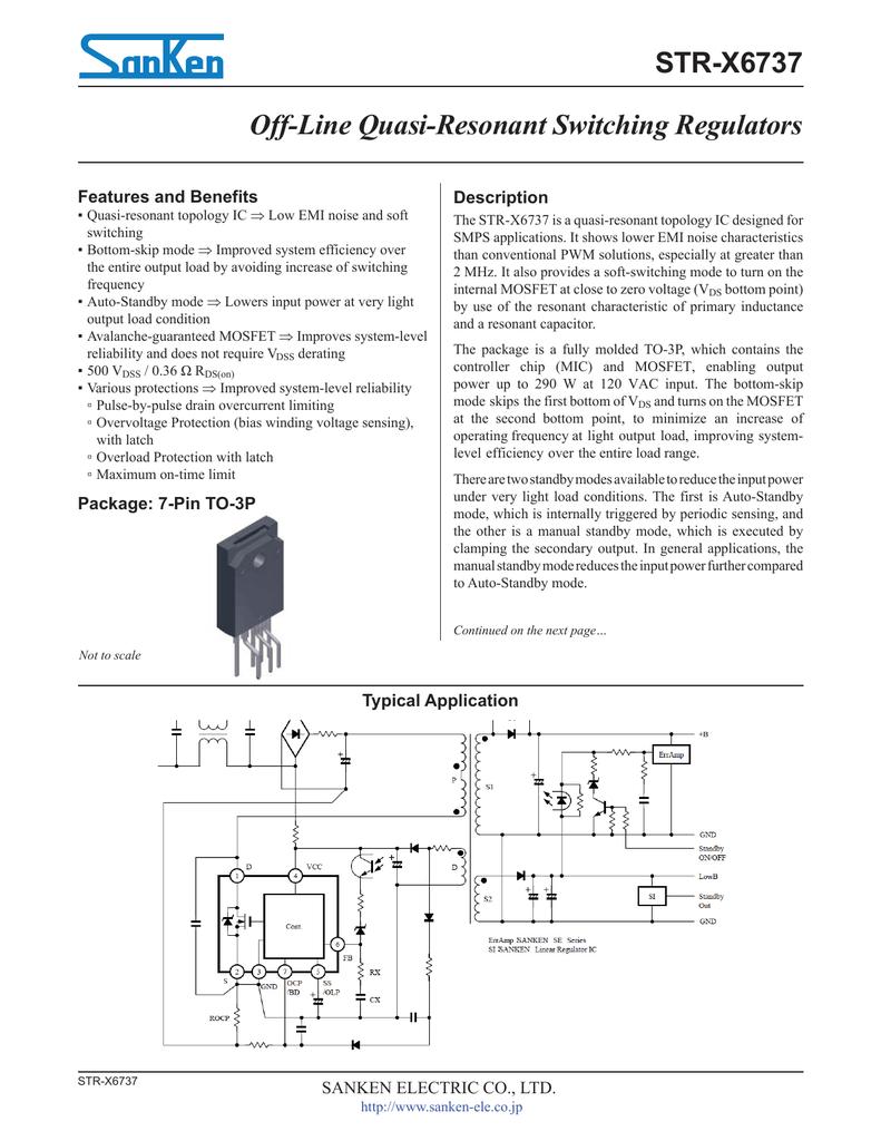 STR-X6737 Datasheet