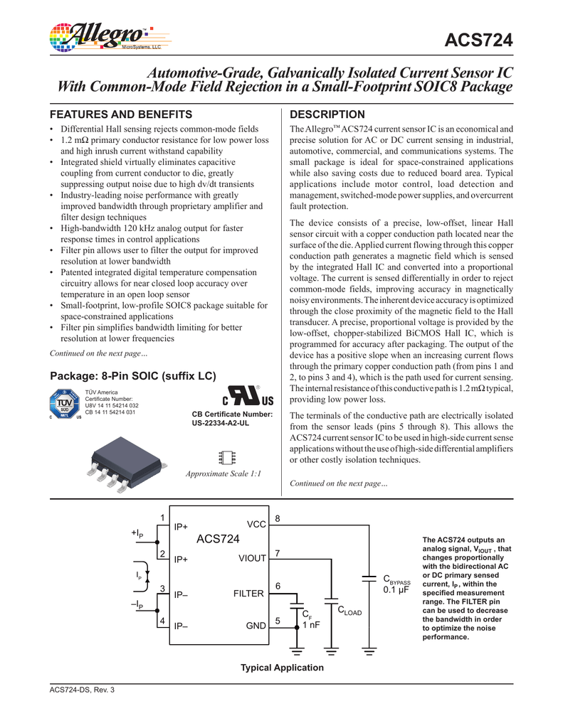 Acs724 Datasheet Current Sensor Circuit Diagram On Eddy