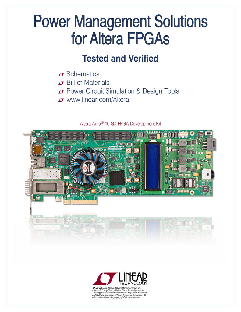 Power Management Solutions For Altera Fpgas Monolithic Synchronous Stepdown Dc Converter Linear Technology 001564496 1 B72294f7e8269c4dfade1595a9a58985