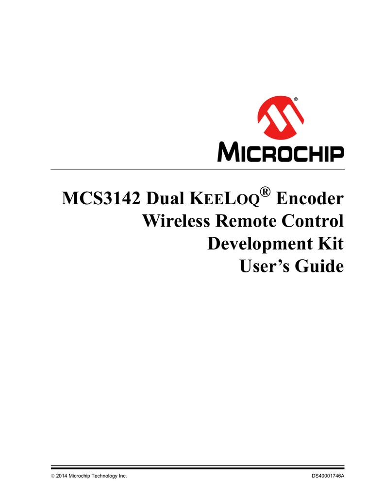 MCS3142 Dual KeeLoq® Encoder Wireless Remote Control Dev