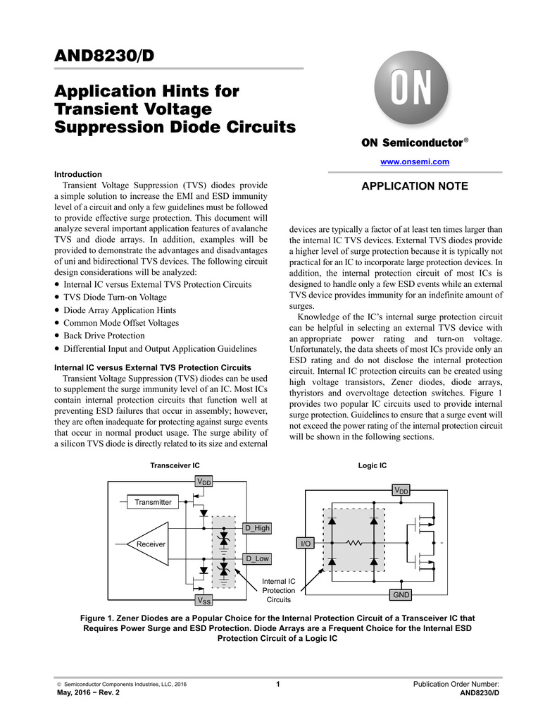Application Hints For Transient Voltage Suppression Diode Circuits What Do Diodes In A Circuit 001618140 1 Df4f6262a24699fa1622fa1d4389b534