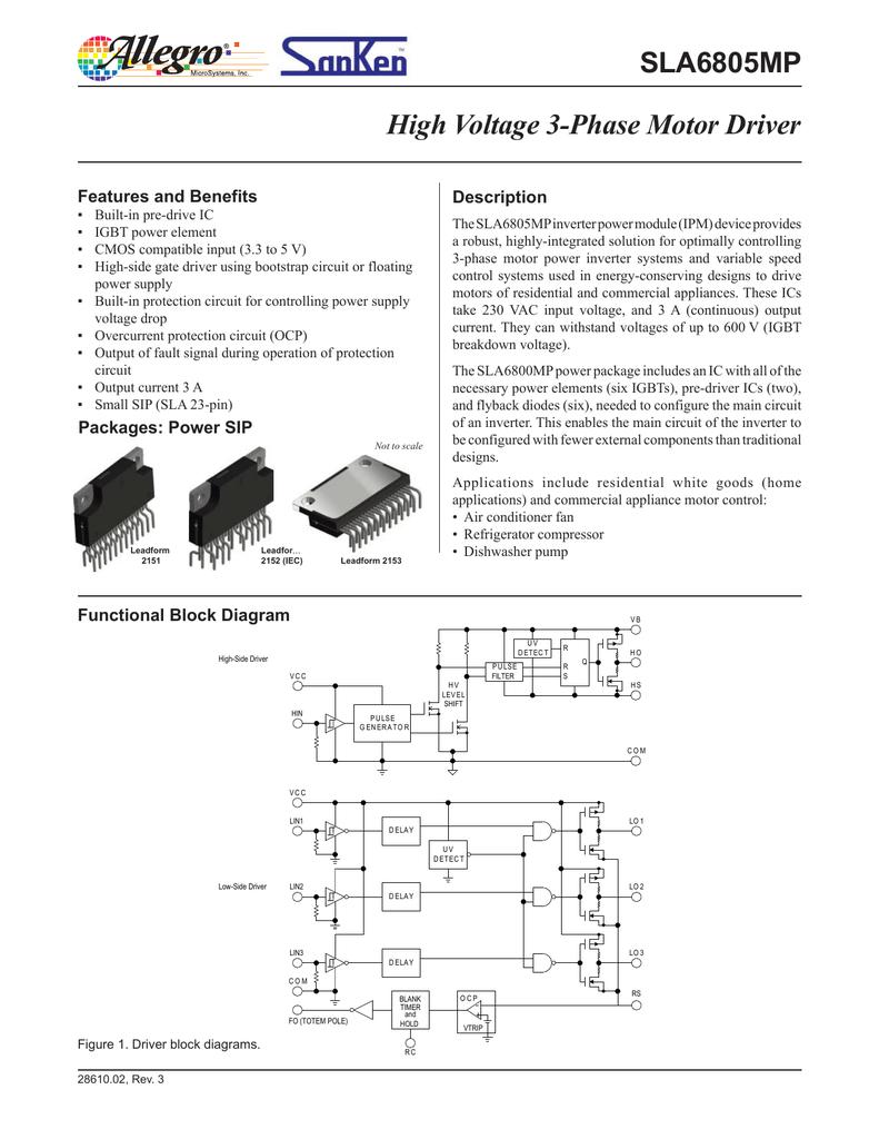 Sla6805mp Datasheet Overcurrent Protection Circuit
