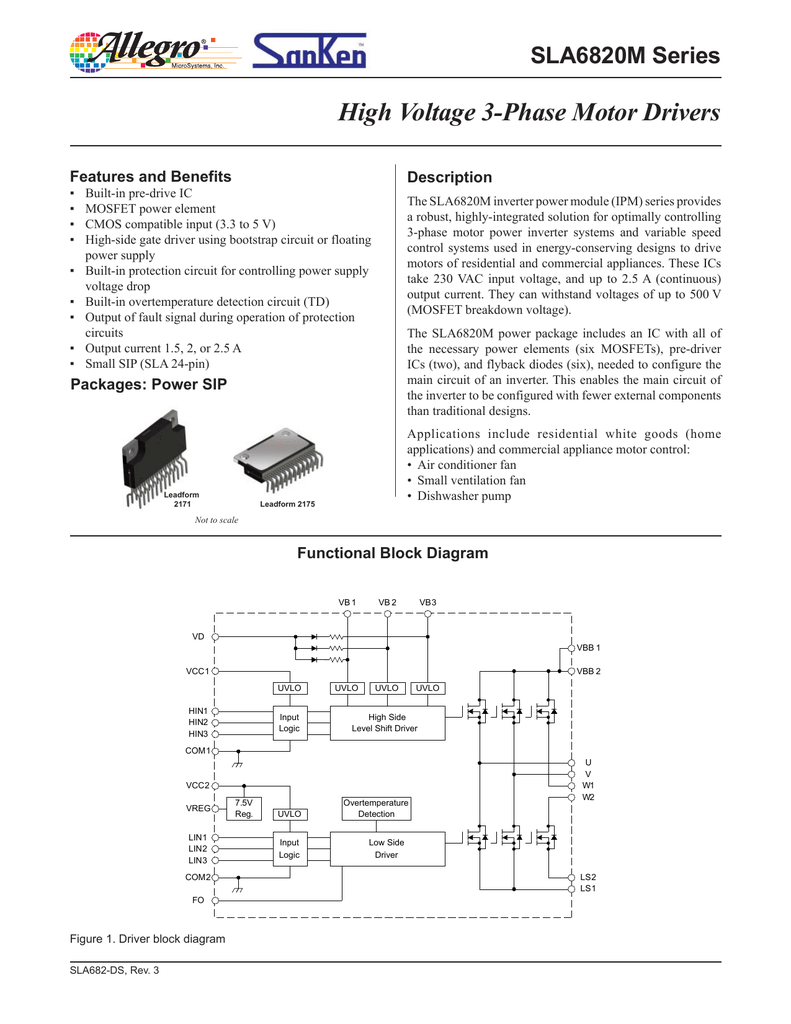 Sla6826m Sla6827m And Sla6828m Datasheet High Side Mosfet Driver Circuit