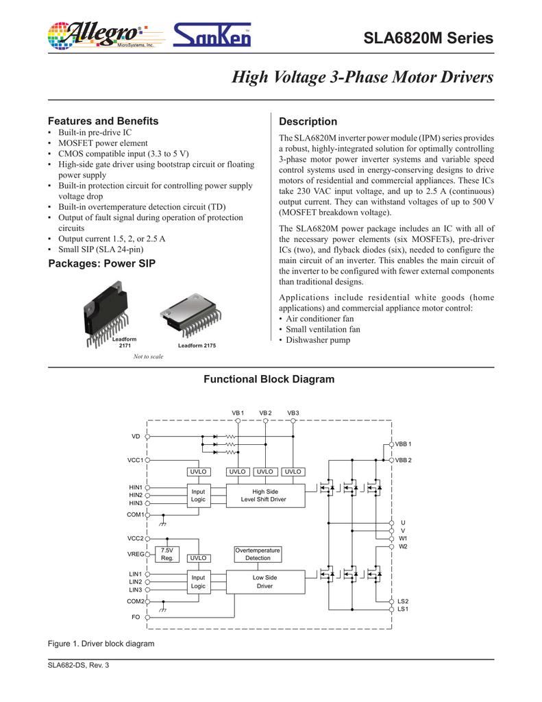 Sla6826m Sla6827m And Sla6828m Datasheet Figure 1 Circuit Diagram For Level Shifter