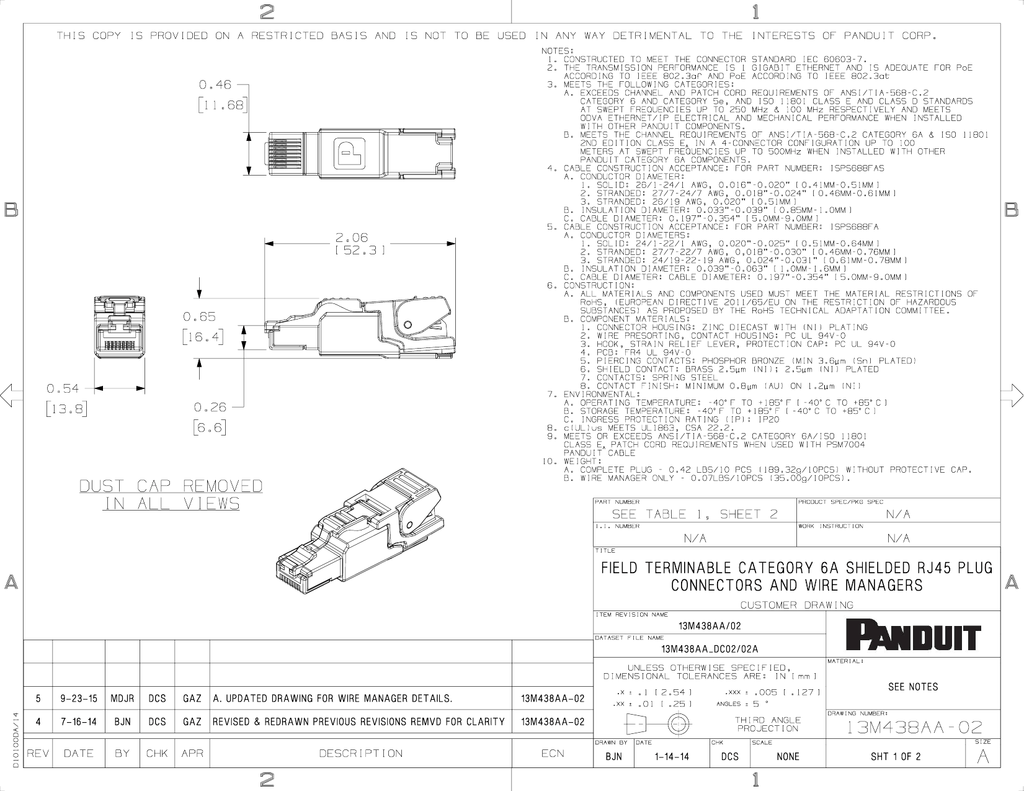 Field Terminable Category 6a Shielded Rj45 Plug Connectors Wire Panduit Wiring Diagram Managers