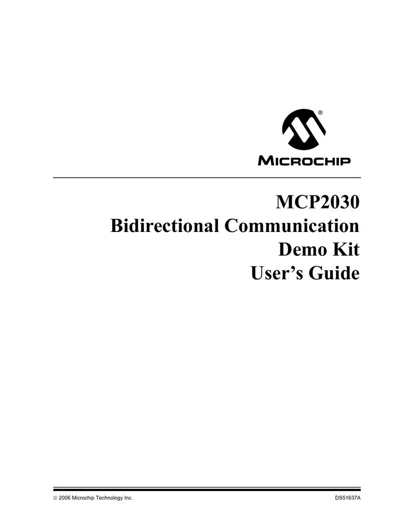Mcp2030 Bidirectional Communications Demo Kit Users Guide Microchip Tc4422 High Speed Mosfet Drivers Datasheet
