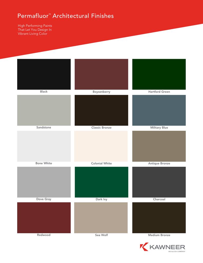 Kawneer Paint Colors