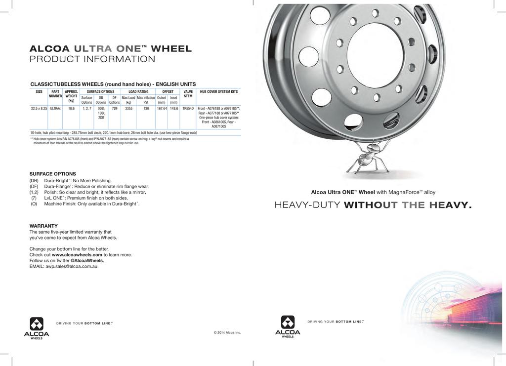 Alcoa Ultra ONE™ Wheels with MagnaForce™ Alloy Brochure