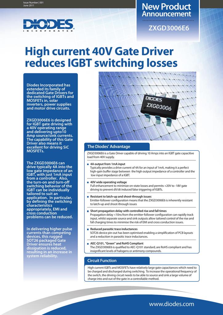 Zxgd3006 Flyer Igbt Switch