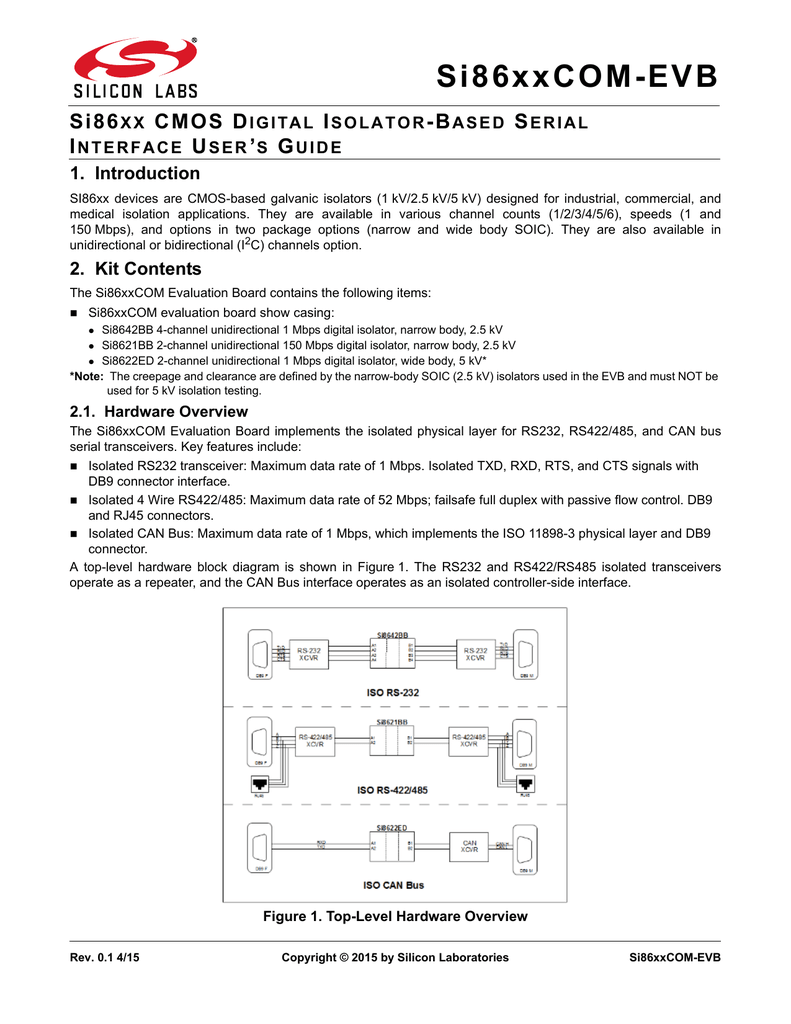 si86xx cmos digital isolator based serial interface user s guide