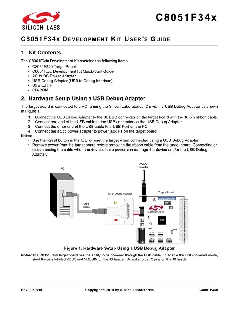 C8051f34x Development Kit User S Guide Usb Debug Cable Schematic