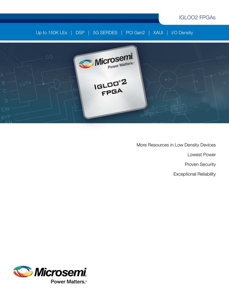 IGLOO2 FPGA Product Brochure (1 MB)