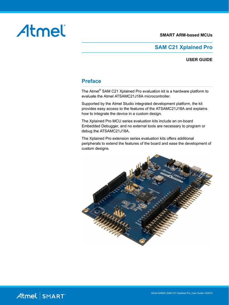 View detail for Atmel SAM C21 Xplained Pro User Guide