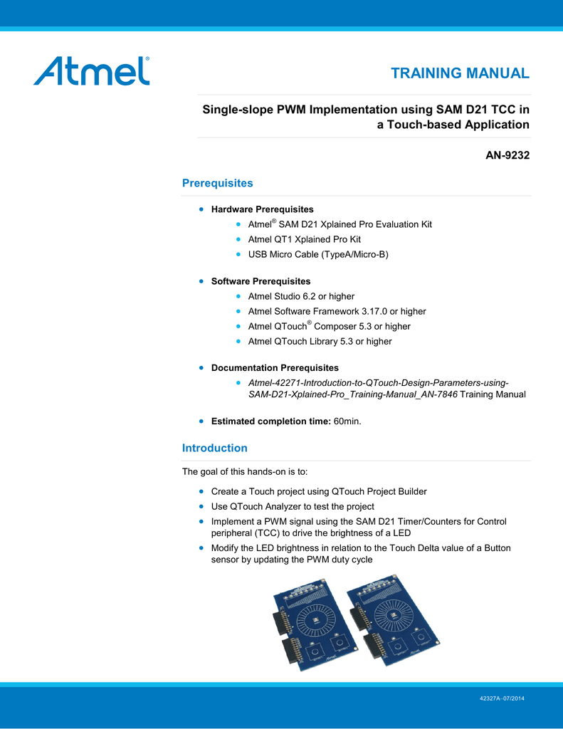 View detail for Single-slope PWM Implementation using SAM D21 TCC in
