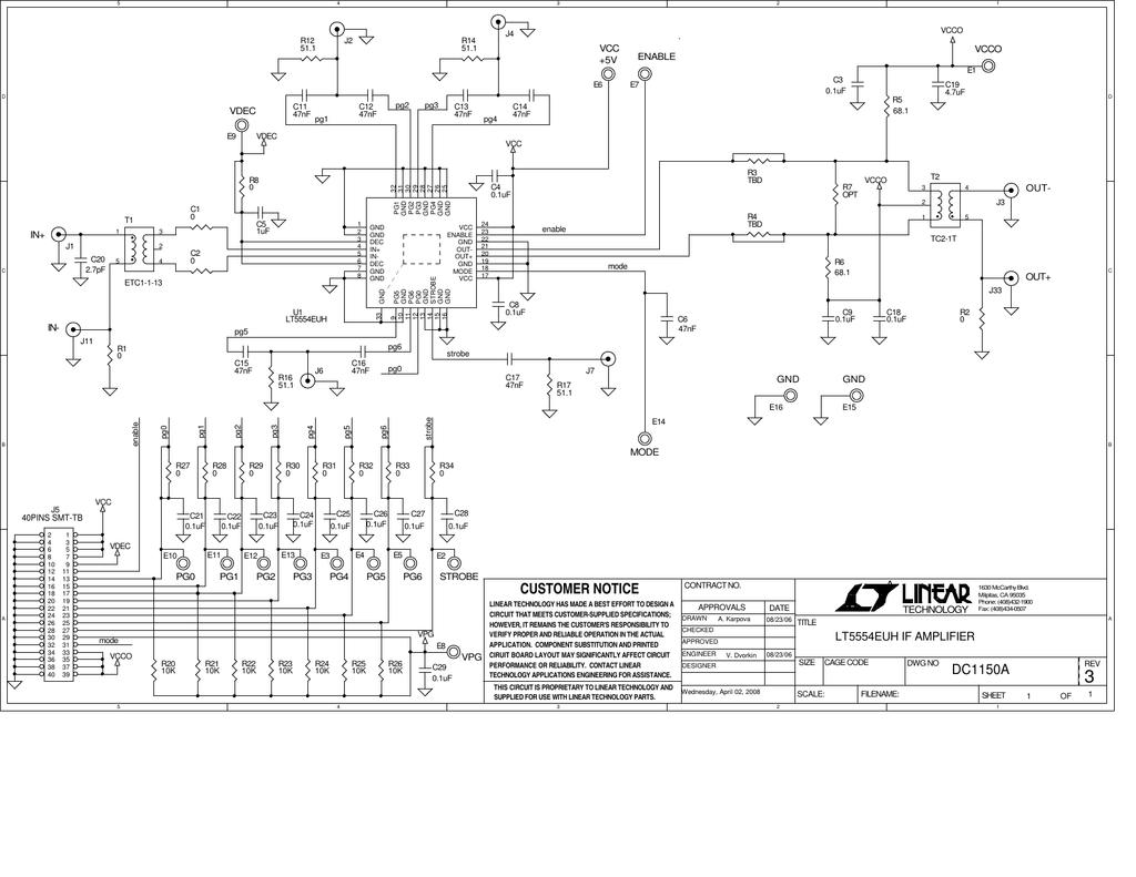 Dc1150a Schematic Of Basic Strobe Circuit